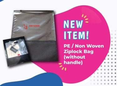 SLIDER TOP NON WOVEN BAG