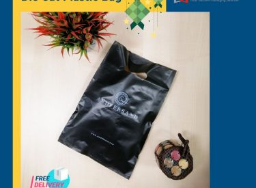 die cut bag black color