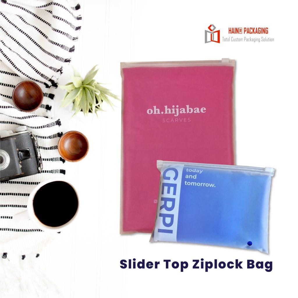 Slider Top Ziplock – Cetak Plastik Murah